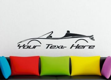 Large Custom car silhouette wall sticker - for Tesla Roadster | EV , electric car